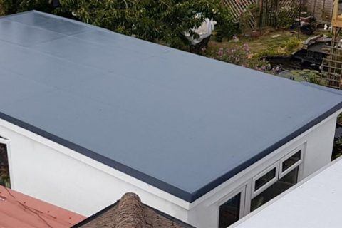 GRP Fibreglass Roof Fitters in Brean Down